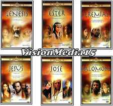 6 Pk Historia De DVD NEW Genesis Ester Jeremias Jusus Jose Salomon SHIPS NOW !