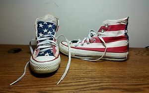 74ab1fdb807 Converse Chuck Taylor All Star U.S Flag   Stars USA MADE Size 3.5
