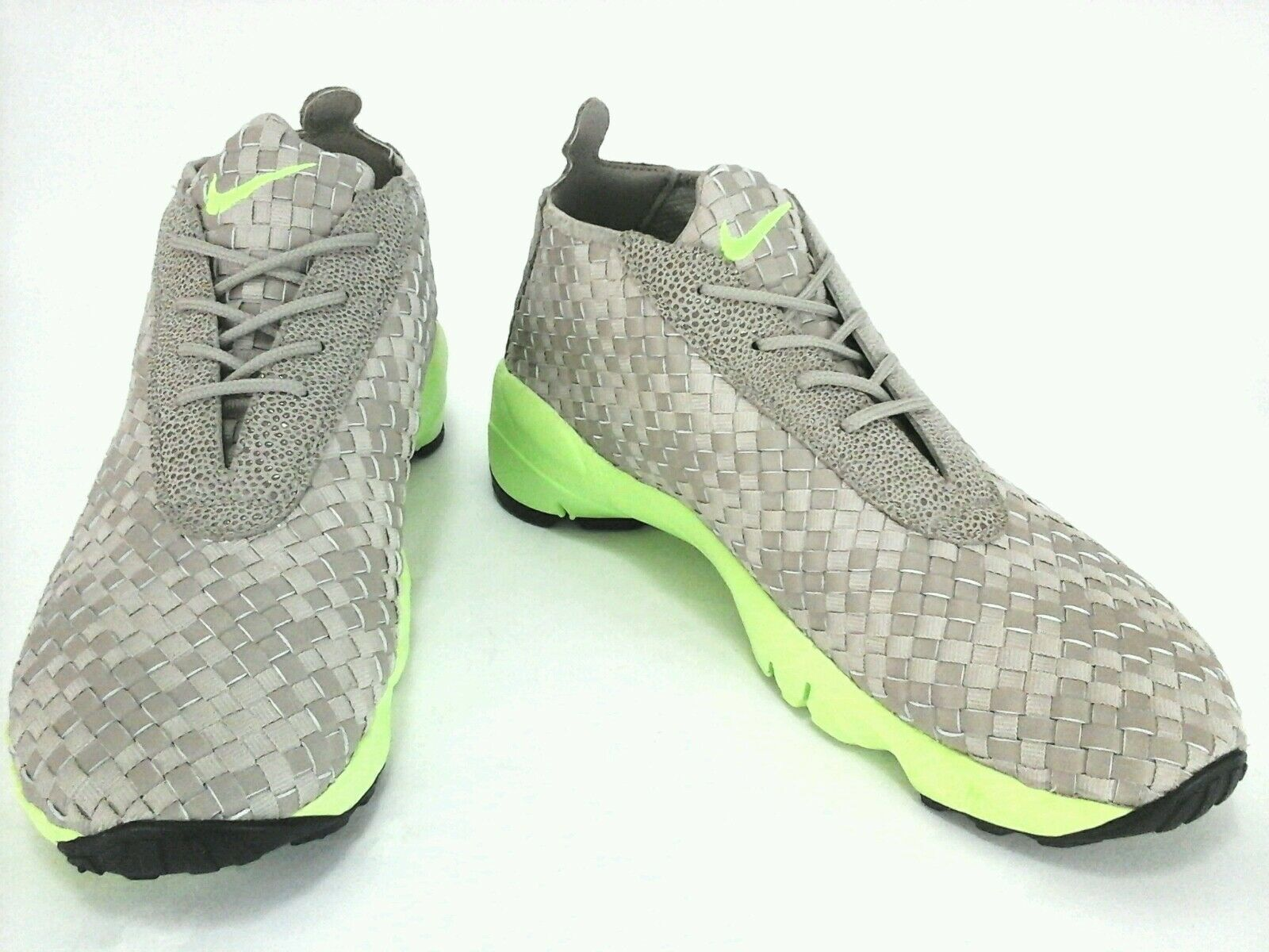 Nike Mens Mid High-Tops Beige Woven Shoes Sneakers US 12 New Rare