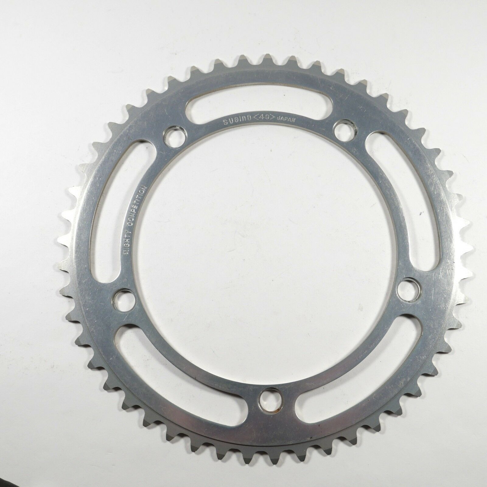Sugino Mighty Competition 144 mm BCD 49T Chainring 3 32  NOS