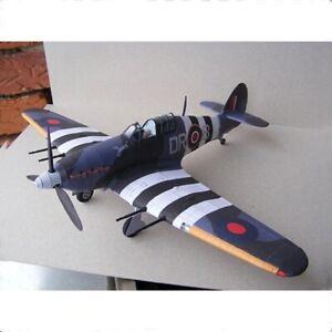 1:33 SCALA HAWKER HURRICANE AEREO modello in carta 3D fai da te militare giocattolo creativi