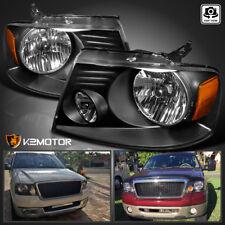For 2004-2008 Ford F150 Pickup 2006-2008 Lincoln Mark LT Black Headlights Pair