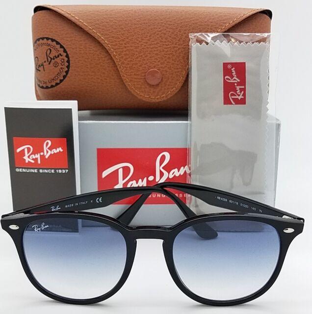 78d407e2168 NEW Rayban sunglasses RB4259 601 19 51 Black Light Blue Gradient 4259  AUTHENTIC
