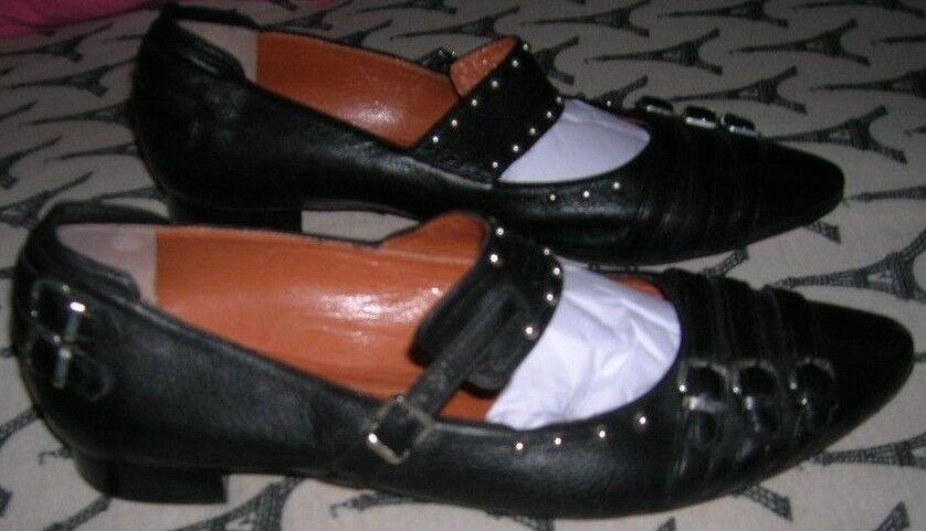 R & RENZI  Gianmarco Lorenzi  Art to Wear  Boucles et rivets BL Mary Janes chaussures 38