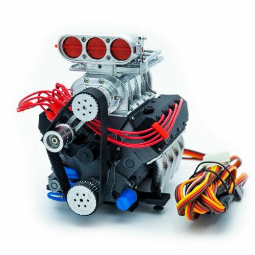 DarkDragonWing 1//10 RC OHV V8 H SC FD Engine Assembled Chrome