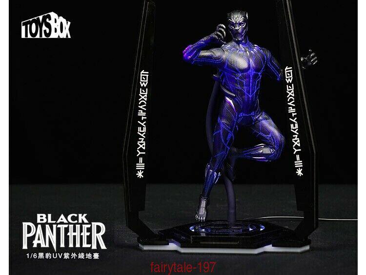 Jouets-Box Avenger 1 6 Panther Plateforme UV réflexion avec lumière ffit 12  Figure Toy