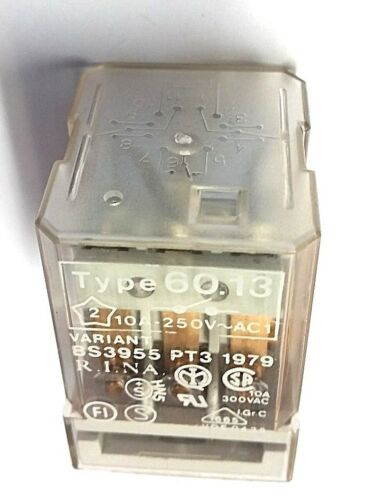 250V NEW Finder Type 60.13 10A Socket Relay Coil 24Vac.