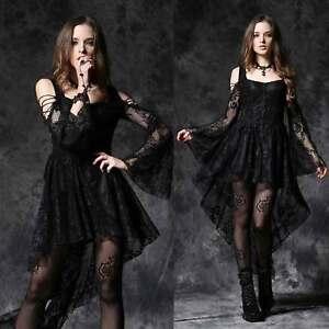 Dovetail Gothic Dark Mit Viel Kleid Schwarz Spitze Lady Love Dress In Details Zu Black wOk0X8nP