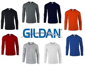 Gildan-Mens-Plain-Premium-Feel-Soft-Style-Long-Sleeve-T-Shirt