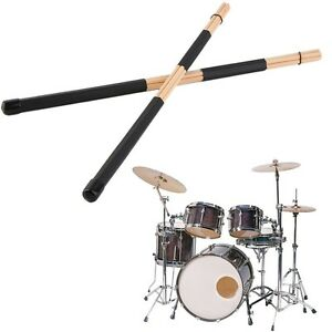 1 Pair  High Quality WoodenHot Rods Rute Jazz Drum Sticks Drumsticks 40cm B2 877093176352