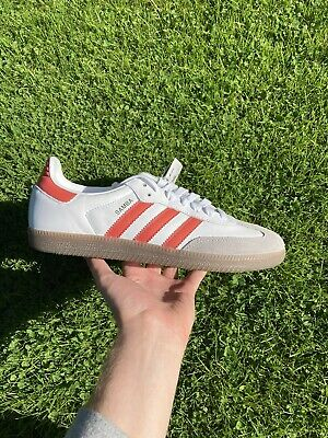 Adidas Samba OG Mens Trainer Sneakers White Orange Brown EF6551-UK Size 8.5   eBay