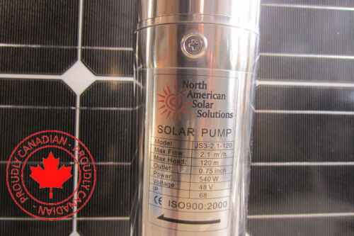 SOLAR SUBMERSIBLE DC WATER DEEP WELL PUMP direct from PV Panel or bat