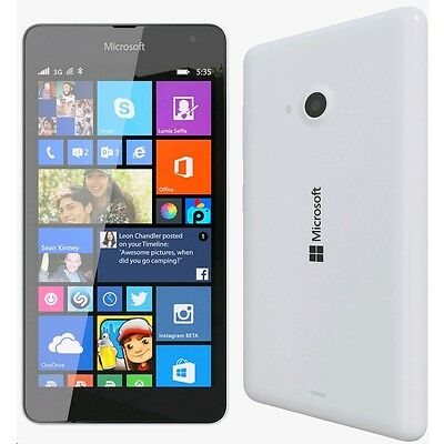 Brand New NOKIA  LUMIA 535 White 8GB UNLOCKED SIM FREE 3G SMARTPHONE - GENUINE