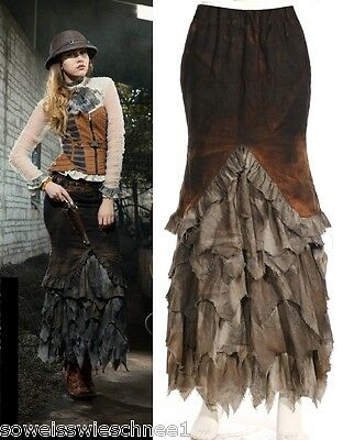 RQ-BL Steampunk Rock Gothic Lolita Fetzen Military Skirt Pirate Apokalypse SP127