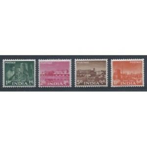 Inde-1959-Serie-Plan-Quinquennal-Filigrane-A-4-V-MNH-Yv-108-11-MF20537