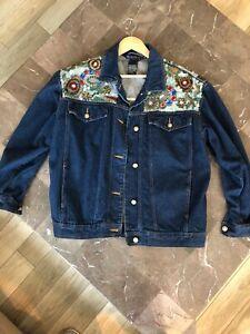 Diffusion Color Block Silk Jacket Small I.B