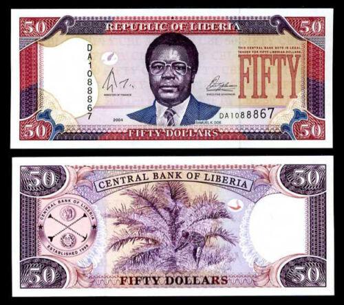LIBERIA 50 DOLLARS 2004 P 29 b UNC