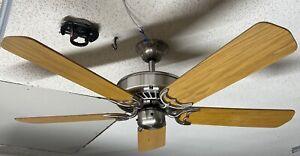Casablanca-Delta-II-50-034-Ceiling-Fan-in-Rare-Brushed-Nickel-w-Light-Oak-Blades