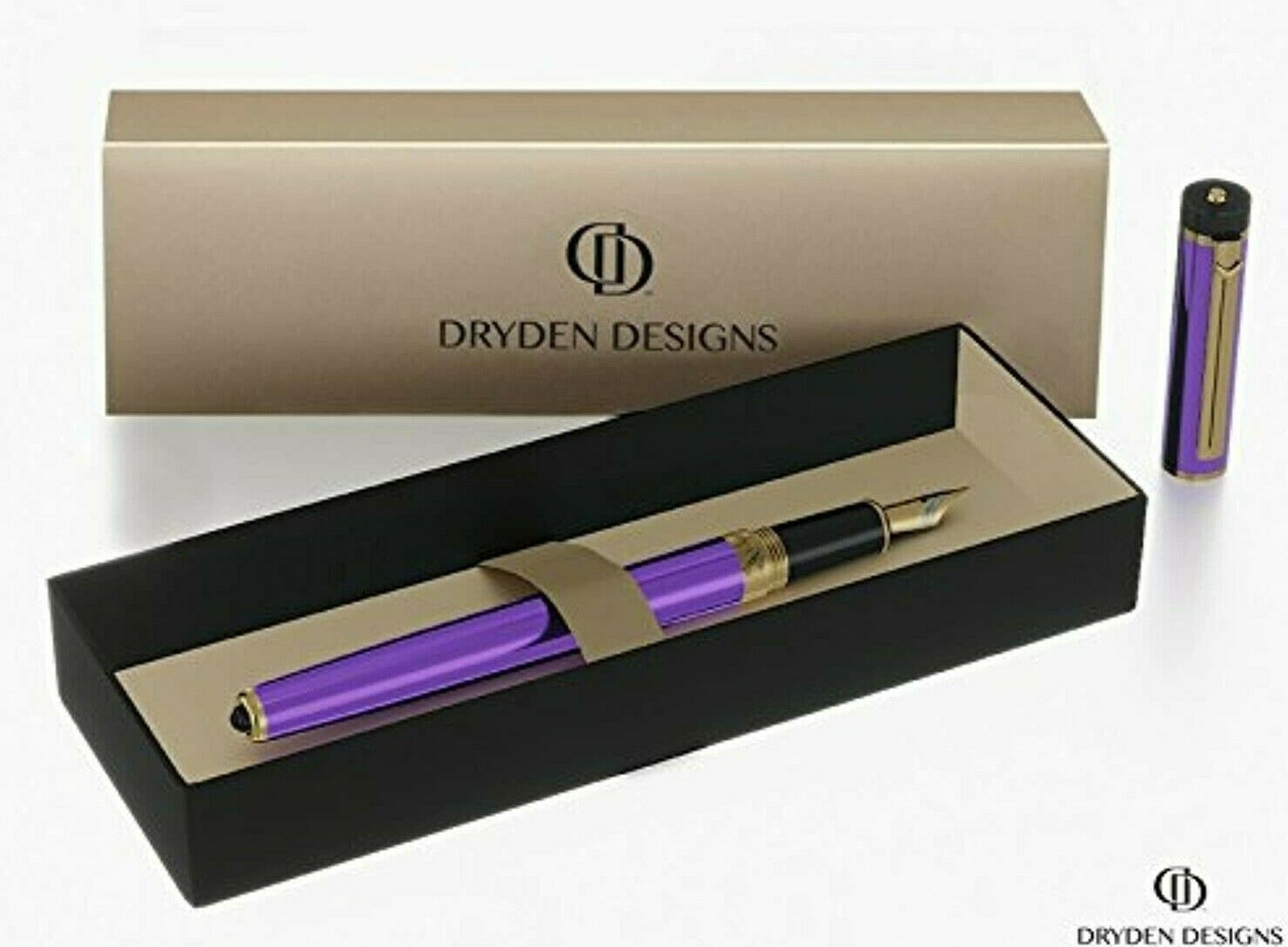 Dryden luxury purple fountain pen