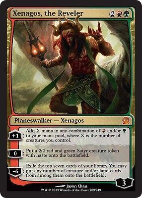 Xenagos, the Reveler x4 PL Magic the Gathering 4x Theros mtg card planeswalker