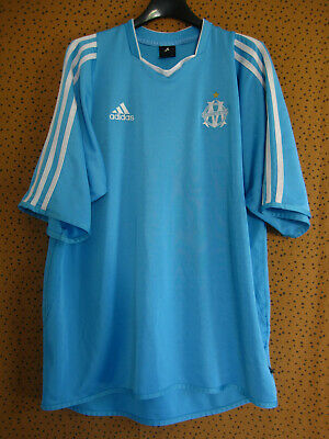 Maillot Olympique Marseille Adidas Vintage Entrainement Ciel Jersey OM L | eBay