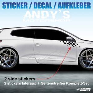 Details Zu 999 Seitenstreifen Aufkleber Schachbrett Für Volkswagen Scirocco