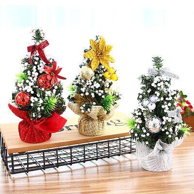 20cm Mini Christmas Ornaments Festival Party Xmas Tree Table Desk Decoration
