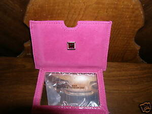 Portable Pocket Purse Pink Suede Pouch Mirror Avon New
