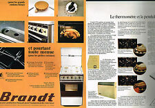 PUBLICITE  1974   BRANDT   cuisinière ( 2 pages) thermomètre pendule