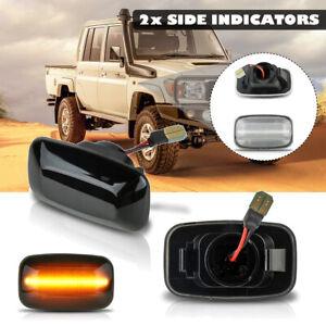 2x Side Fender Marker Turn Light Signal For Toyota Land Cruiser J70 70 80  DYY!