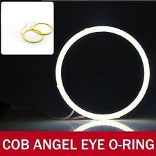 2X 80mm LED COB Angel Eye Ring O-ring  Super Bright Car Light Waterproof- WHITE
