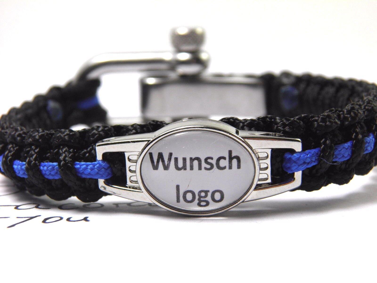 Paracord type type type I Bracelet-police-thin Blue Line-wunschlogo-Boucle-Hope - 1cm de large 20a12a