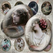 Collage Sheet Digital elegante Frauen Fassungen Fotocollage Anhänger KPCS100-1