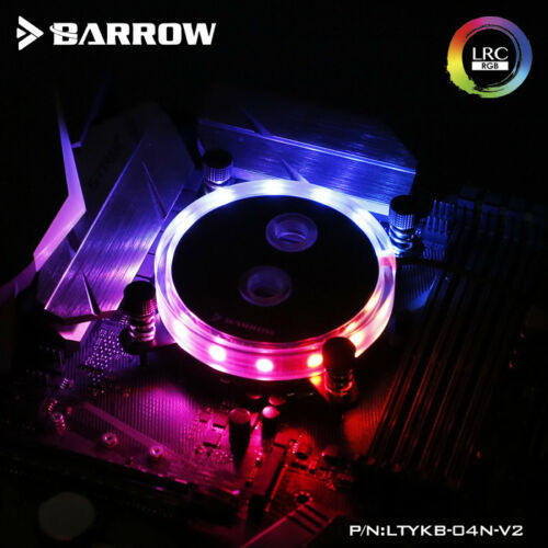 Barrow INTEL 115X Aurora Rays Edition CPU Block Black W// RGB Controller