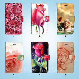 Romantic-Rose-Love-Flip-Wallet-Case-Cover-for-HTC-10-One-M7-M8-M9-34