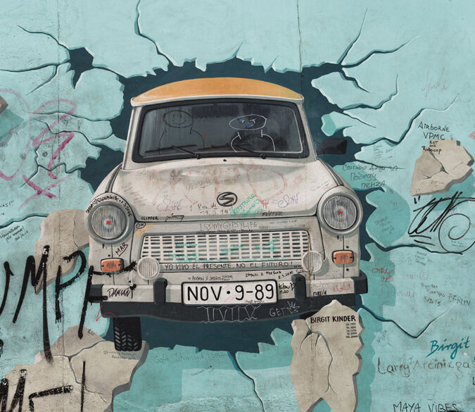 3D Wall rupture car 1 WallPaper Murals Wall Print Decal Wall Deco AJ WALLPAPER