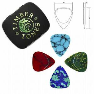 Timber-Tones-039-Stone-Tones-039-Gift-Tin-of-4-Mixed-Picks-Plectrums