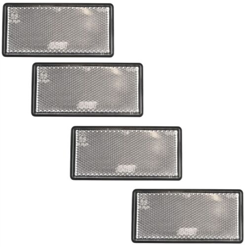 White Large Clear Reflector 4 Pack Trailer Fence Gate Post Self-Adhesive TR213