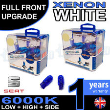 Leon Mk2 1P1 05-on Xenon White Upgrade Kit Headlight Dipped High Bulbs 6000k