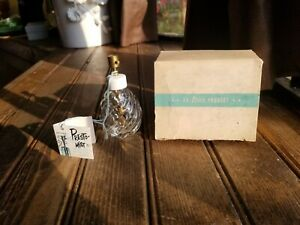 Vtg-IRice-Presto-Mist-Bulbless-Atomizer-Perfume-Bottle-Patterned-Glass-with-Box