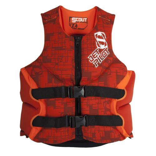 NEW Jet Pilot Scout Red PFD Mens Wakeboard Boating Life Jacket Vest Msrp$100