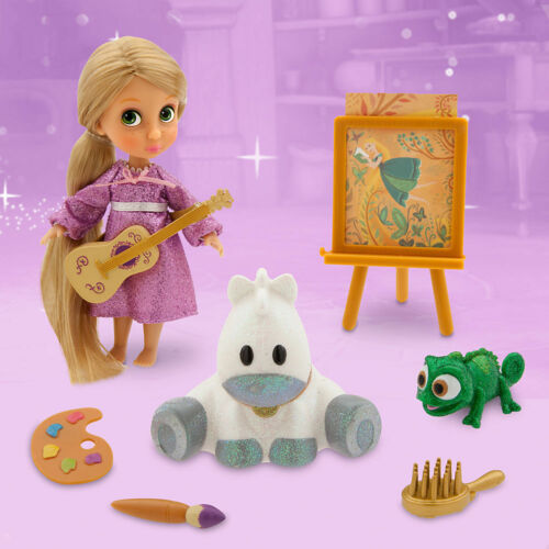 Disney Store Animators/' Tangled Rapunzel /& Pascal Mini Doll Figure Playset NEW
