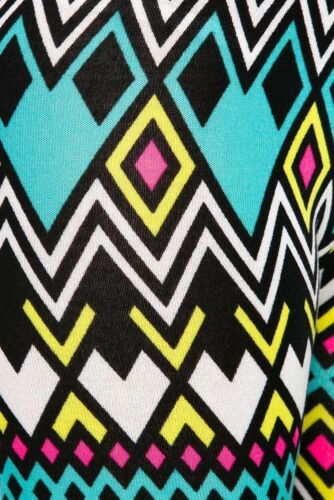 Chevron ZigZag Multi Color High Waist Soft Knitted Leggings Sweater Tights Pants