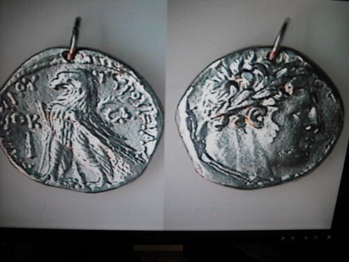 no mount BIBLICAL 30 PIECES OF SILVER ANCIENT COIN SHEKEL OF TYRE PENDANT