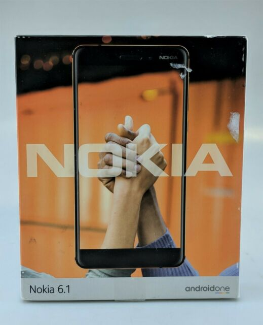 Nokia 6.1 TA-1045 32GB Black Unlocked Android Smartphone In Box Fair Shape