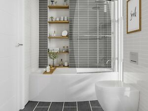 Image Is Loading Compact Bathroom Space Saving Shower Bath Left Right