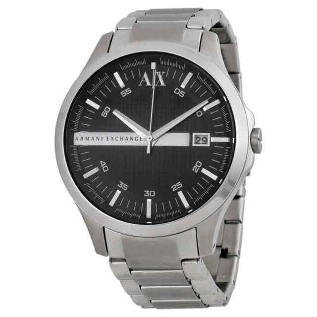 Armani Exchange Steel Watch Men's Black Dial Stainless Ax2103 tQrCdhsx