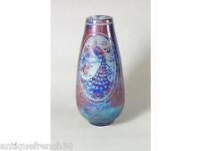 Superbe vase art nouveau déco verre dégagé à l'acide paon