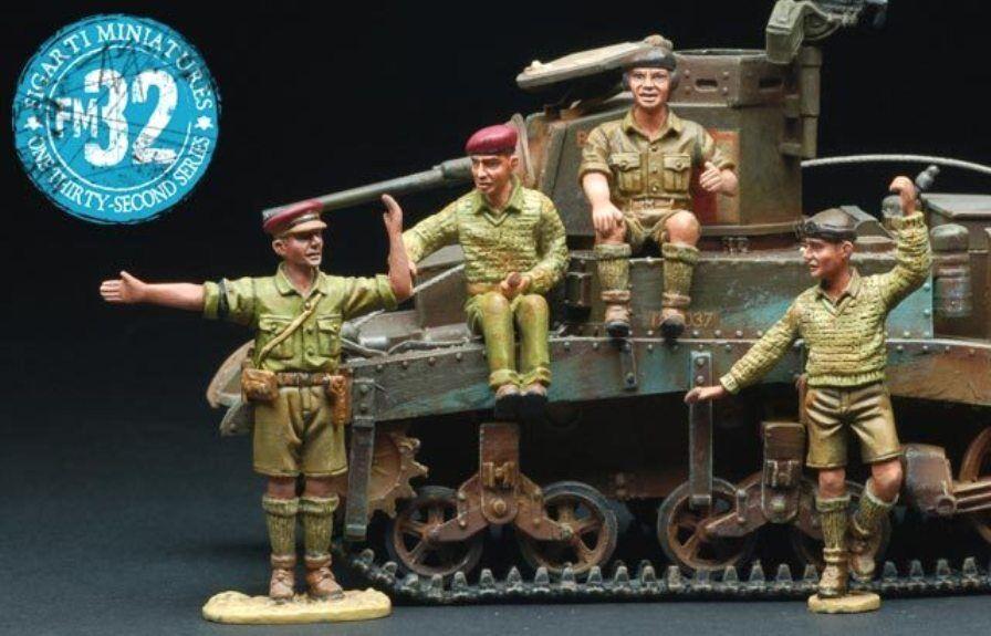 Figarti Miniaturen WW2 Britisch B4045A Tank Truppen Set MIB