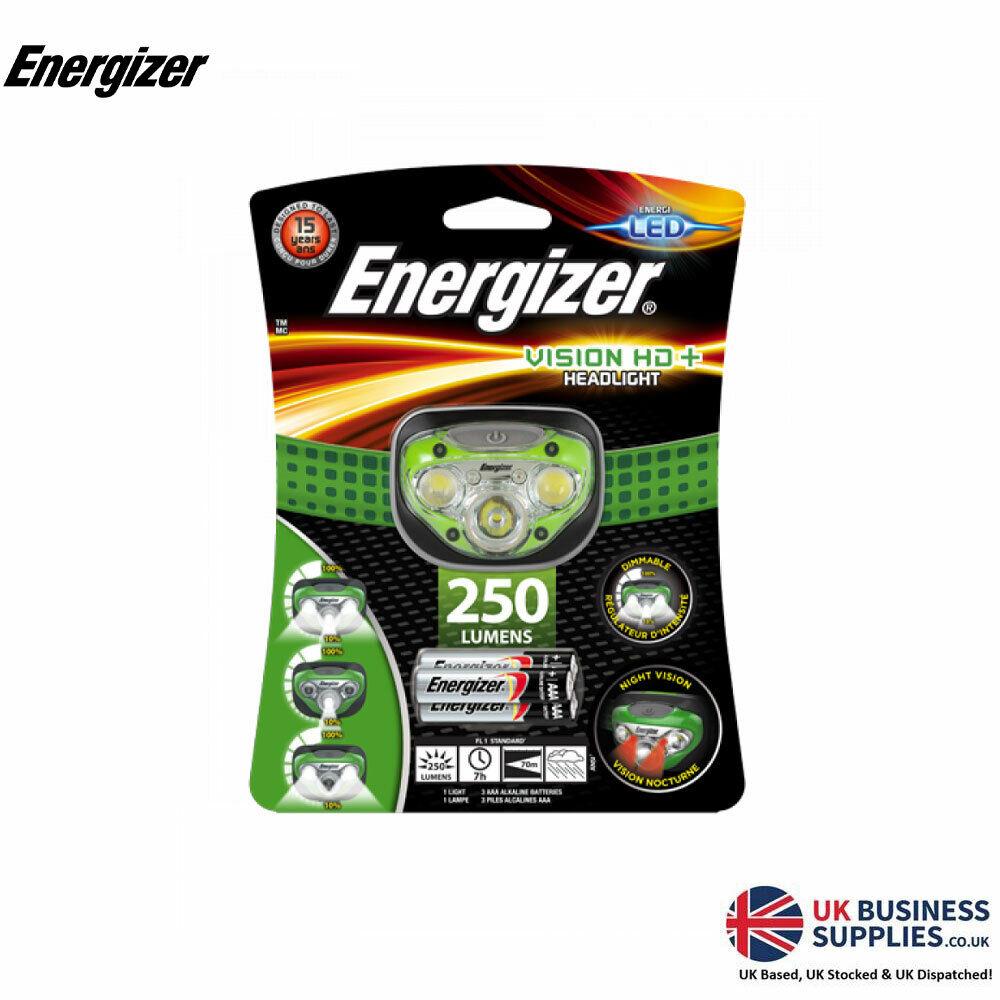 Energizer Vision HD+ Headlight Torch 250 Lumens